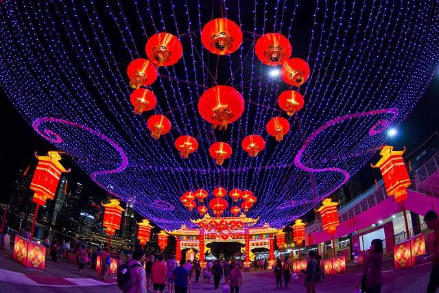 River Hongbao 2014 Entrance Lights