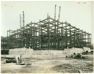Photograph of the National Archives Building Being Constructed, 06/01/1933