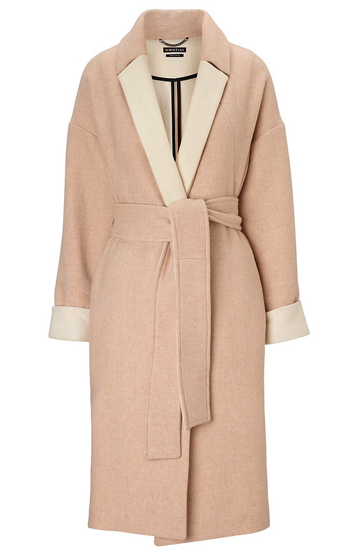 whistles wrap belted coat