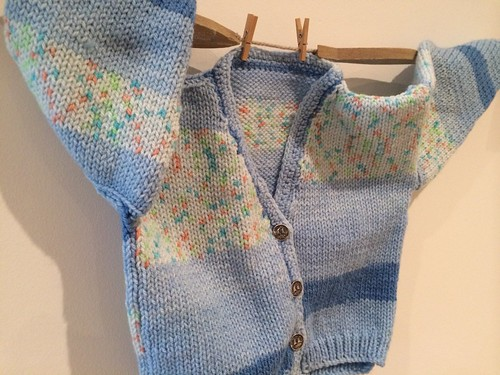 Little boy blue baby cardigan