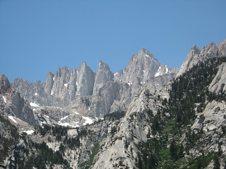 Mt. Whitney from top of Premier Buttress