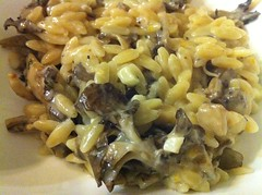 Orzo risotto with maitake
