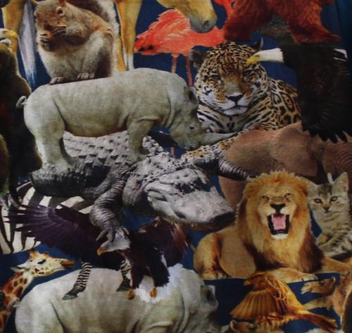 Uitsnede wilde dierenstof