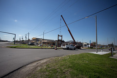 Construction of Community Sign