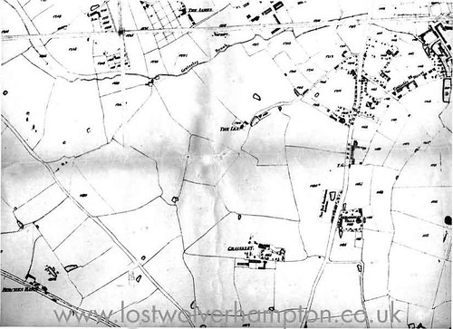 Graisley Old Hall is featured at bottom centre on this small piece of the 1842 Tythe map.