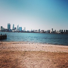 Perth from the Sth Perth foreshore #latergram
