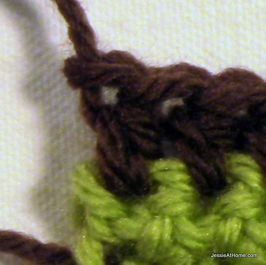 Joseph's-Puff-Stitch-Crochet-Blanket-end-of-hdc-rows