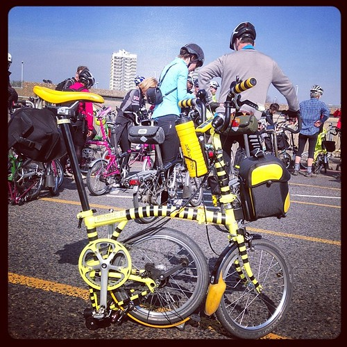 LBC Thames Bridges Ride 2014 #urban #lbclub #thames #bromptonbicycle