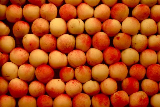 Abricots au marché de la Boqueria dans le Raval.