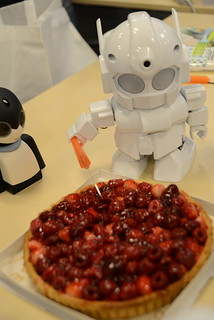 RAPIRO cuts a raspberry Pie!