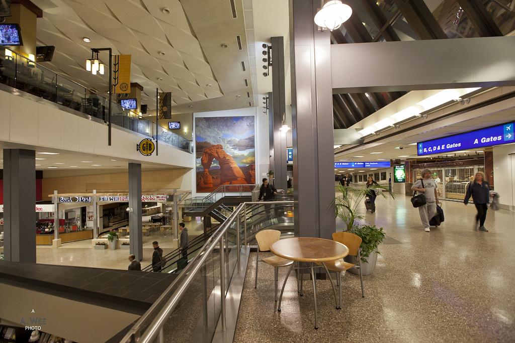 Arrival at Salt Lake City airport