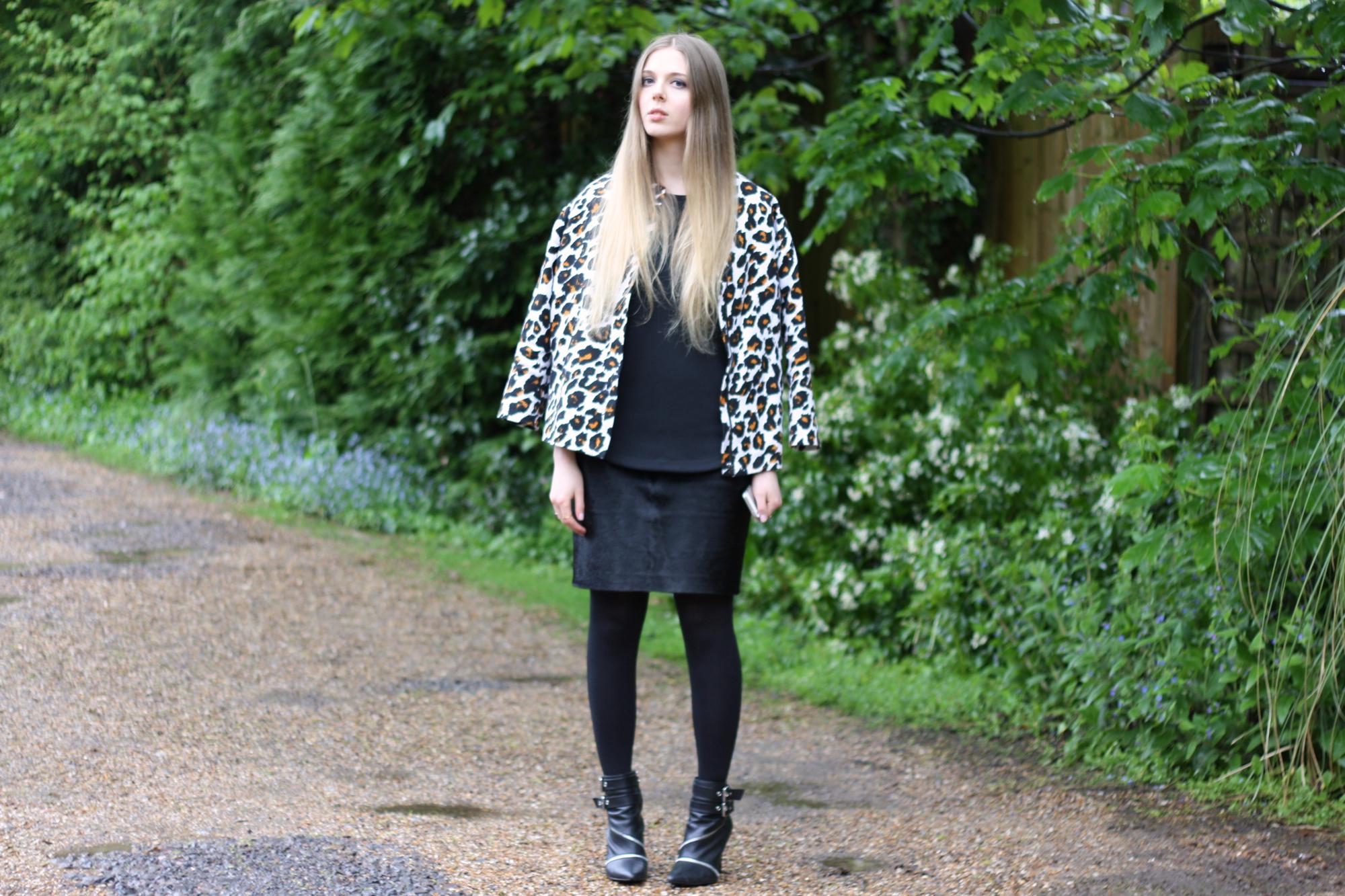 H&M leopard jacket