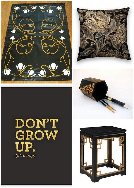 Black Gold Decor Collage