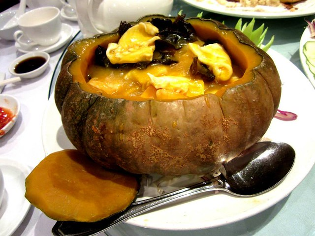 Seafood in a pumpkin