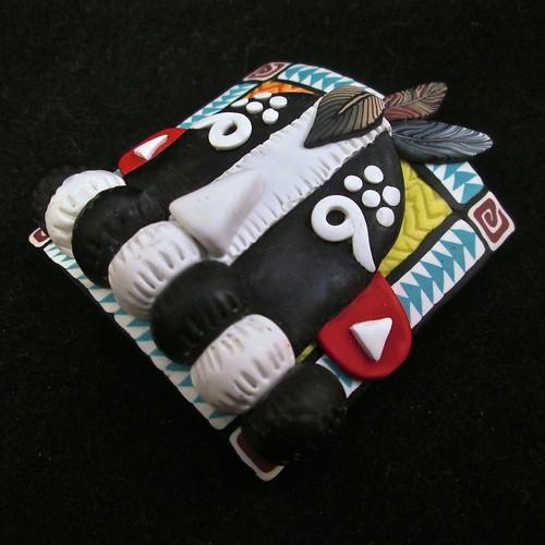Kokopelli Kachina Mask/Bracelet tile/Pendant