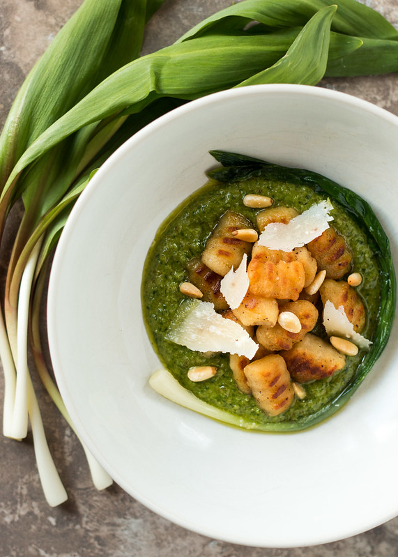 Potato Gnocchi with Ramp Pesto