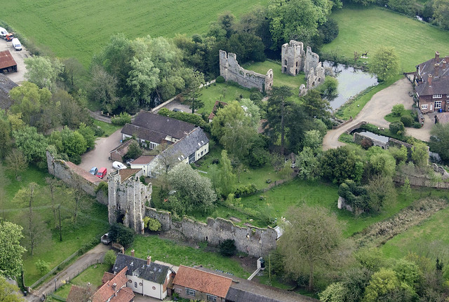 Mettingham Castle aerial