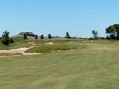 Old American #2 fairway bunker at dogleg 230 yards out