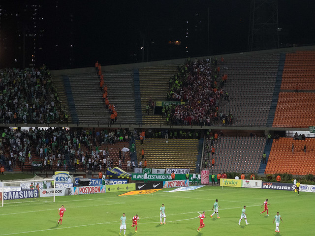 For safety reasons, Santafe fans are forced to leave the stadium before the match concludes