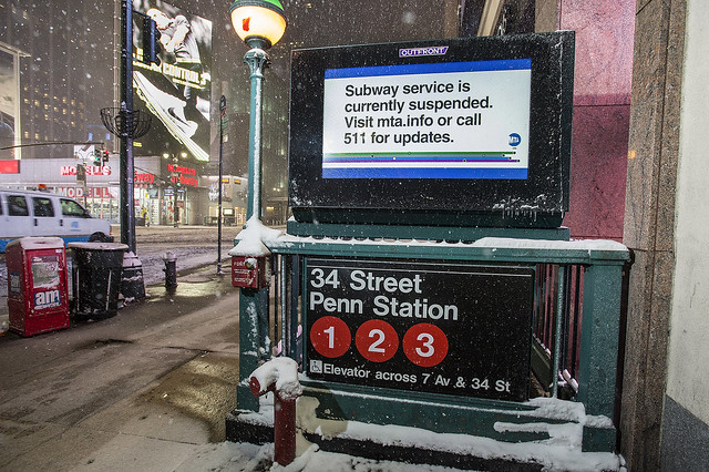 Blizzard of 2015: Canceled Subway Service