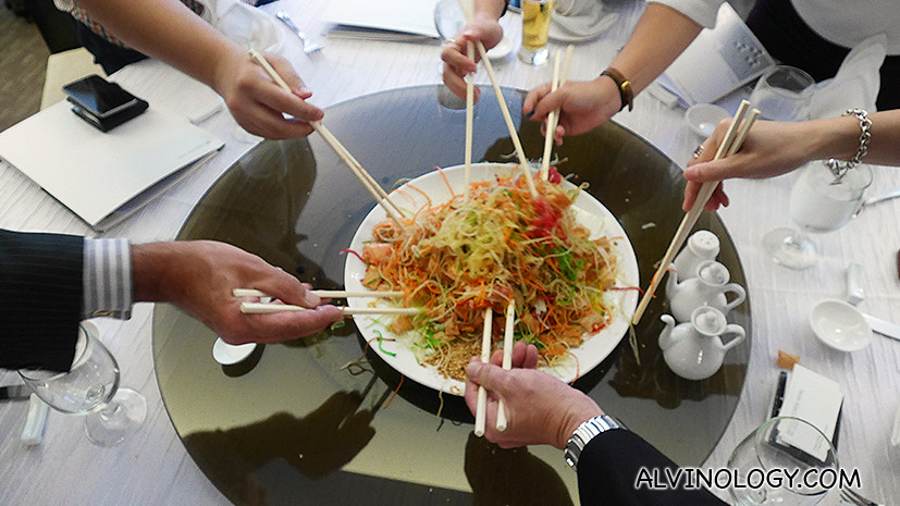 Tossing my first yusheng for the year