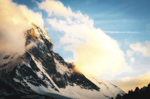 blue light sky mountain motion clouds landscape gold switzerland nikon zermatt matterhorn nikkor 105mm nikkor105mmf28gvrmicro d7000 hotelmatterhornfocus