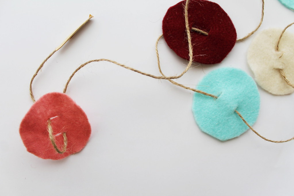 no sew felt circle garland