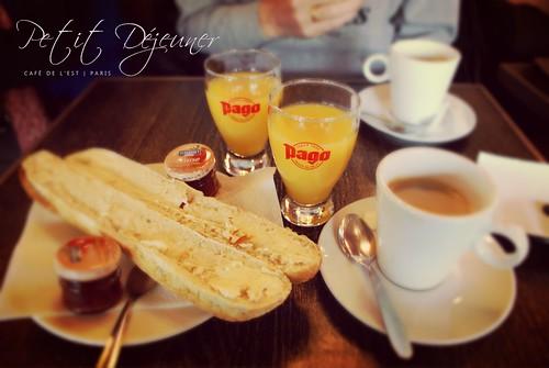 Petit Déjeuner | Café de L'Est | PARIS 10e