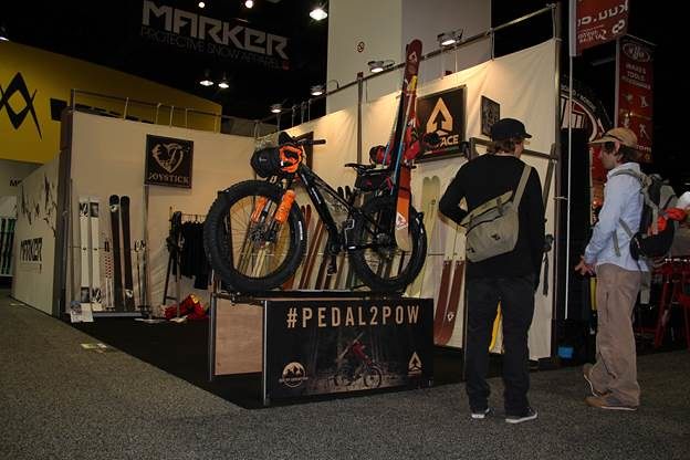 Fat bikes on display at ski show