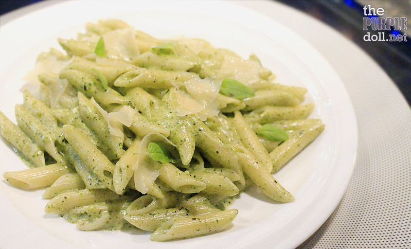 Penne with Creamy Pesto from Mercado