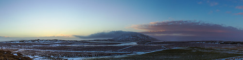 morning blue winter red sky panorama sun sunlight mountain snow cold ice wet field clouds sunrise river landscape dawn frozen iceland wind peak skálholt