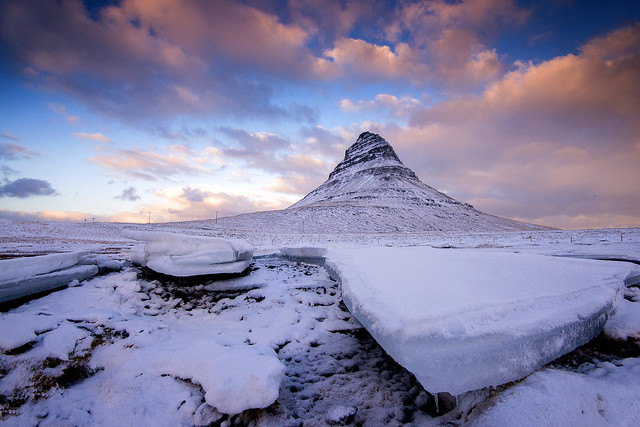 Tracey Whitefoot - Sunset at Kirkjufell