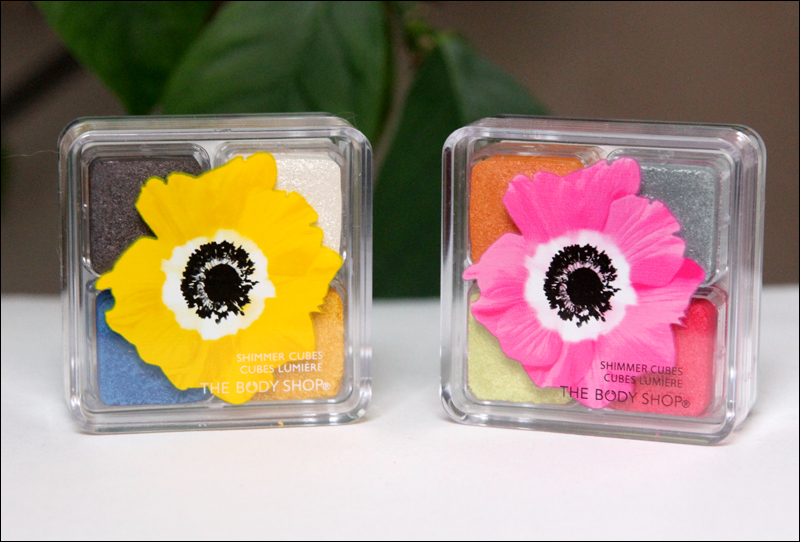 TBS Pink poppy & Yellow poppy shimmer cubes