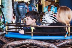 Sam on the carousel
