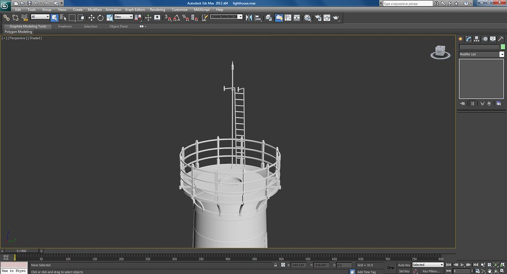 Rusted Old 3d Light House In Progress Screenshots