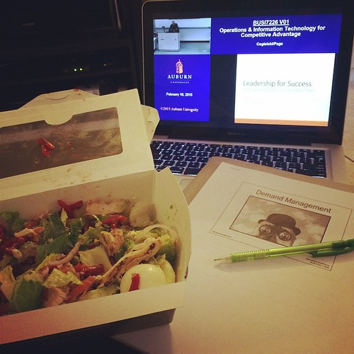 Class is in session. And dinner is served. #mbalife