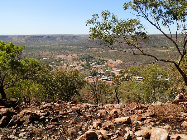 Lookout over Timber Creek township, Northern Territory