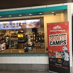 sports camp banner at McDonalds (Nathan Bennett photo)