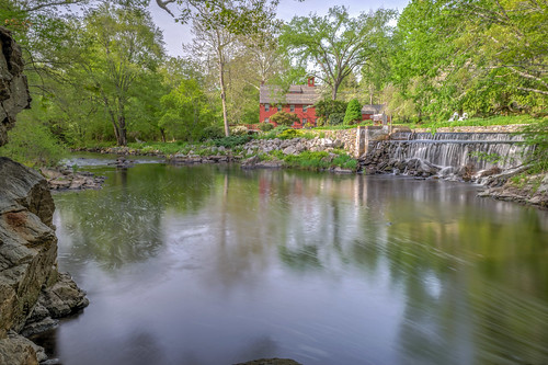 longexposure morning trees red reflection tree green water creek reflections river geotagged waterfall nikon rocks unitedstates dam connecticut brook hdr lyme spillway beaverbrook eightmileriver nikond5300