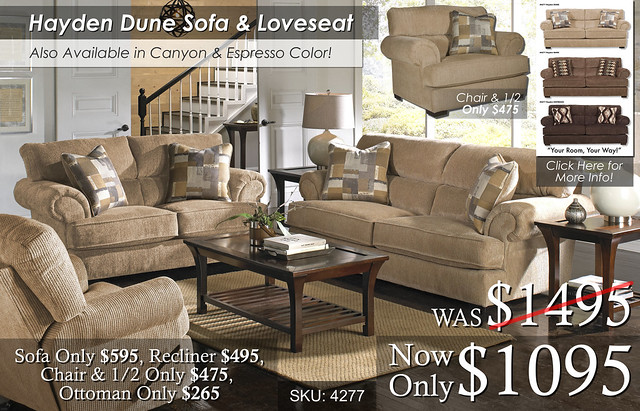 Hayden Dune Living Set