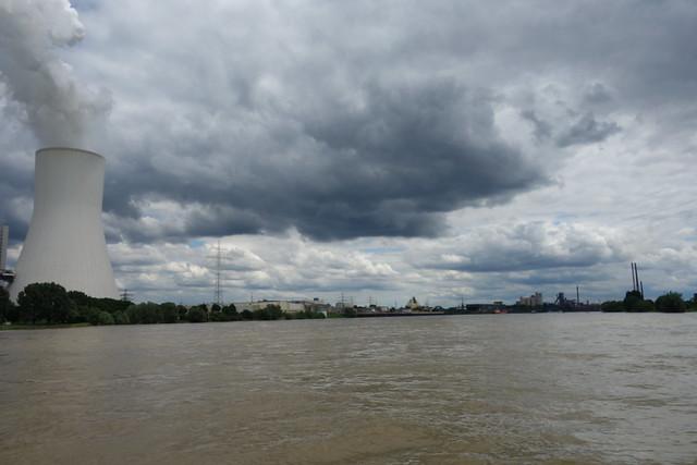 Auf der Rheinfähre Walsum-Orsoy