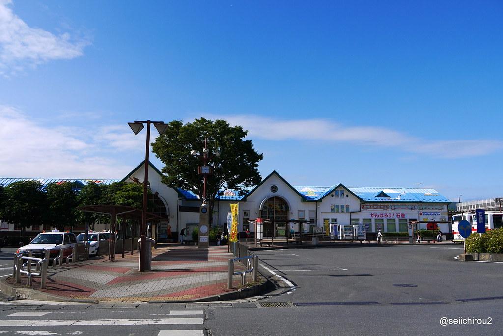 石巻駅遠景