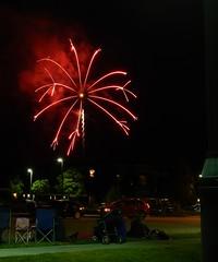 Fireworks, red scatterburst