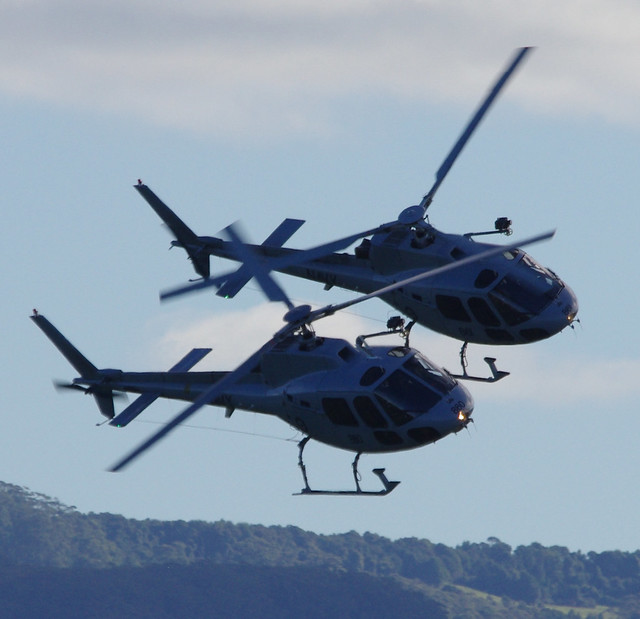 Eurocopter AS350 Ecureuil (Squirrel) synchronised flying - Wings Over Illawarra airshow