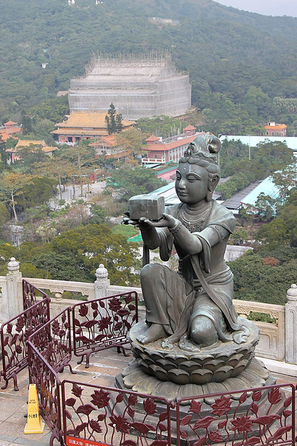 Deva offering to the Big Buddha on Lantau Island, Hong Kong