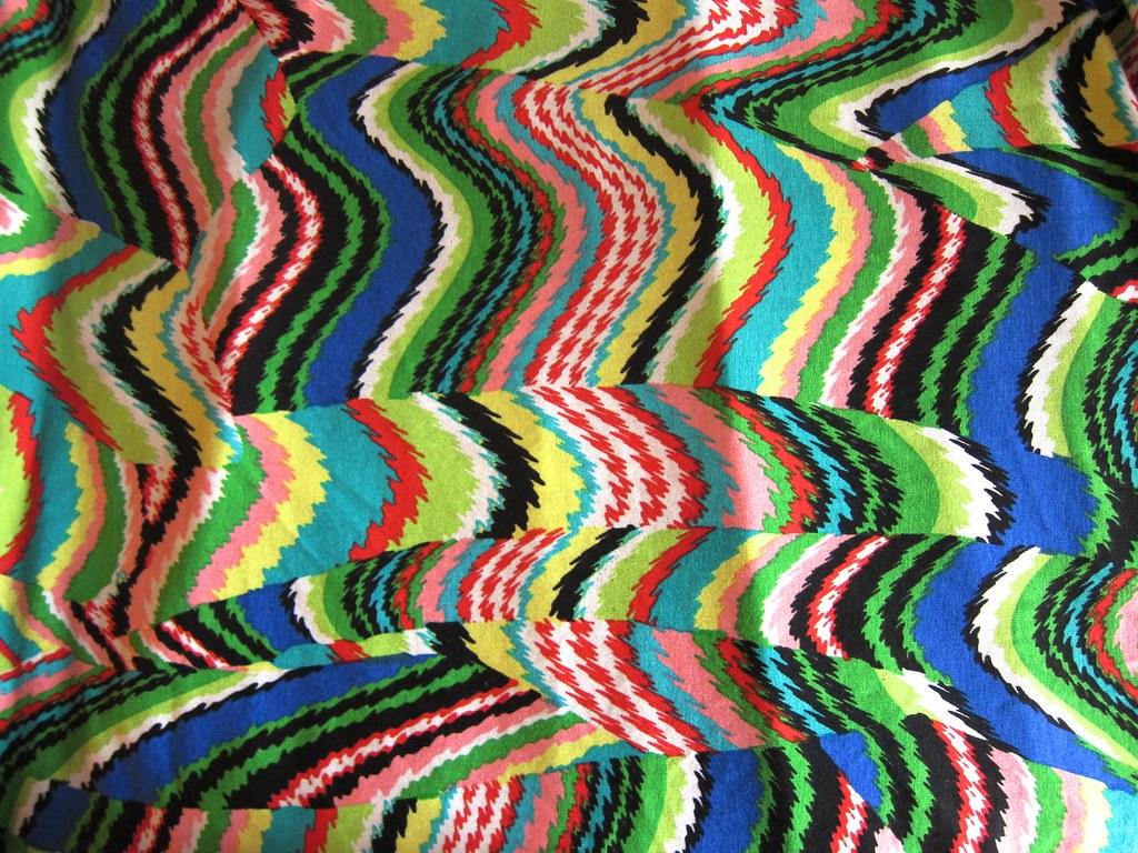 Amazing chaotic rayon/lycra print knit ...