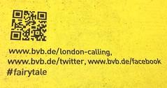 Borussia Dortmund (BVB)-Werbung: London calling (Facebook, Twitter)