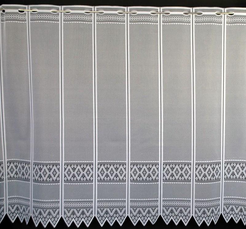 13 cm breite scheibengardine jacquard grafisch 110 cm hoch. Black Bedroom Furniture Sets. Home Design Ideas