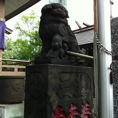 狛犬探訪 御穂鹿嶋神社 阿吽とも子連れ