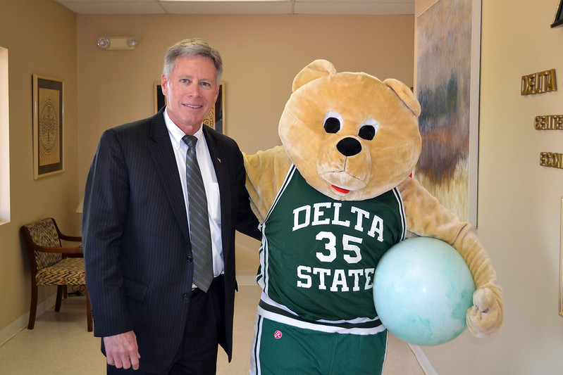 Wuzzy the Bear and President LaForge hope to promote awareness on asthma.